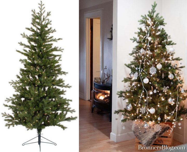 Decorated Artificial Christmas Tree