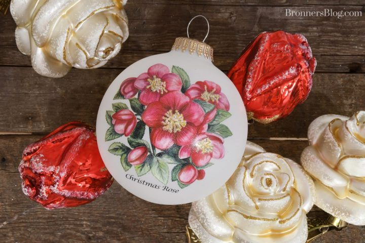 Legend of the Christmas Rose ornaments from Bronner's Christmas Wonderland