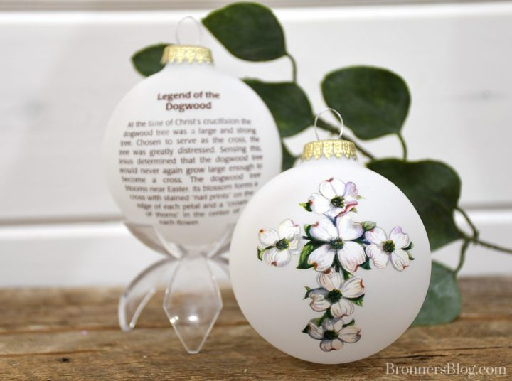 Legend of the Dogwood ornament from Bronner's Christmas Wonderland