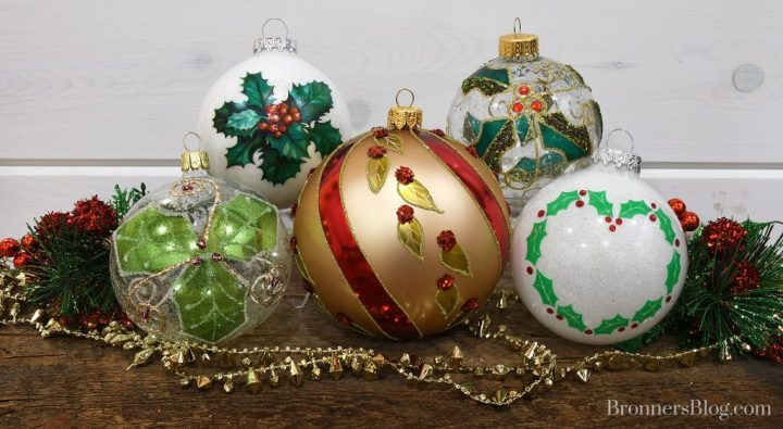 Legend of Christmas Holly ornaments at Bronner's.