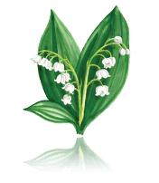 Lily of the Valley custom art from Bronner's Christmas Wonderland