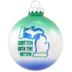 Smitten With The Mitten Michigan Ornament