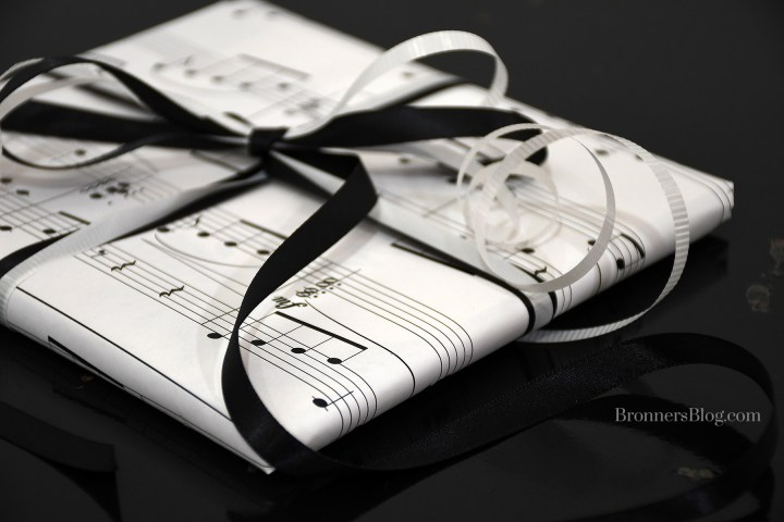 Music Sheets are perfect for wrapping paper for small gifts.