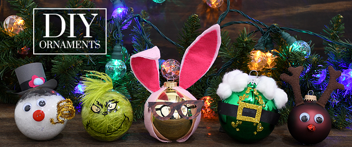 DIY Christmas Ornaments of characters from your favorite Christmas movies