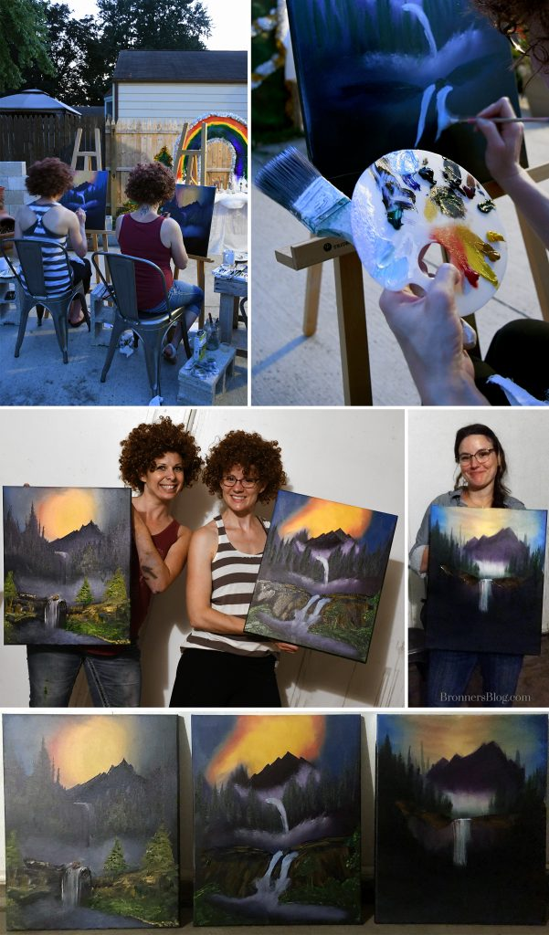 Bob Ross painting party.