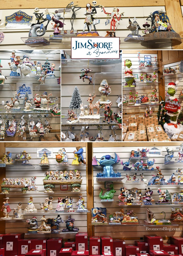 Bronner's Jim Shore collectibles include pieces from The Nightmare Before Christmas, Frosty The Snowman, Rudolph The Red-Nosed Reindeer, The Grinch and Disney.