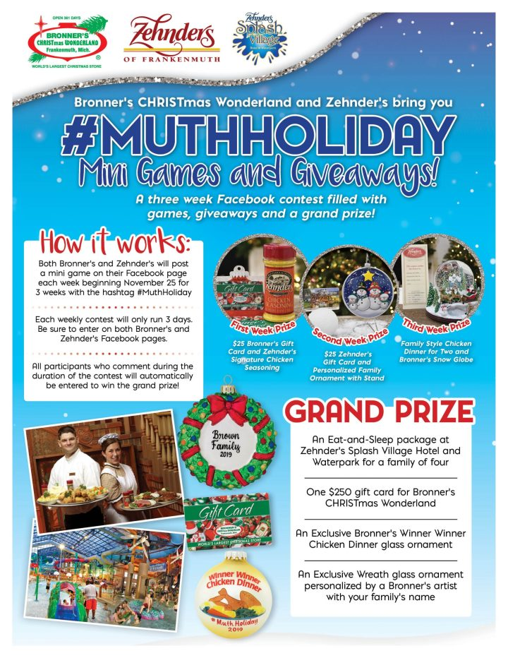 #MuthHoliday Mini Games and Giveaway contest graphic