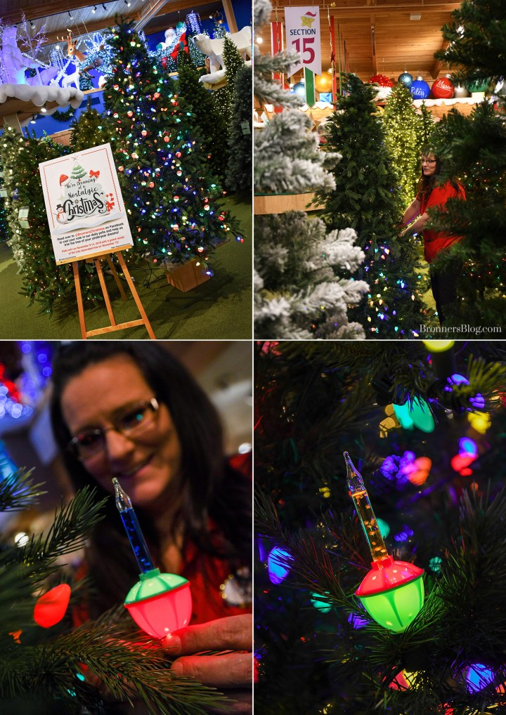 Old-Fashioned Bubble Lights decorate Bronner's Vintage-Styled Christmas Tree.