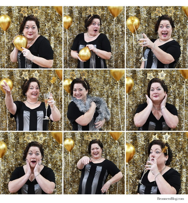 Christmas Tinsel Garland makes a quick and glamorous DIY Photobooth backdrop for the New Year.