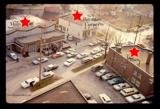 Three original locations on the North end of Frankenmuth that were home to Bronner's Chrismtas Wonderland.