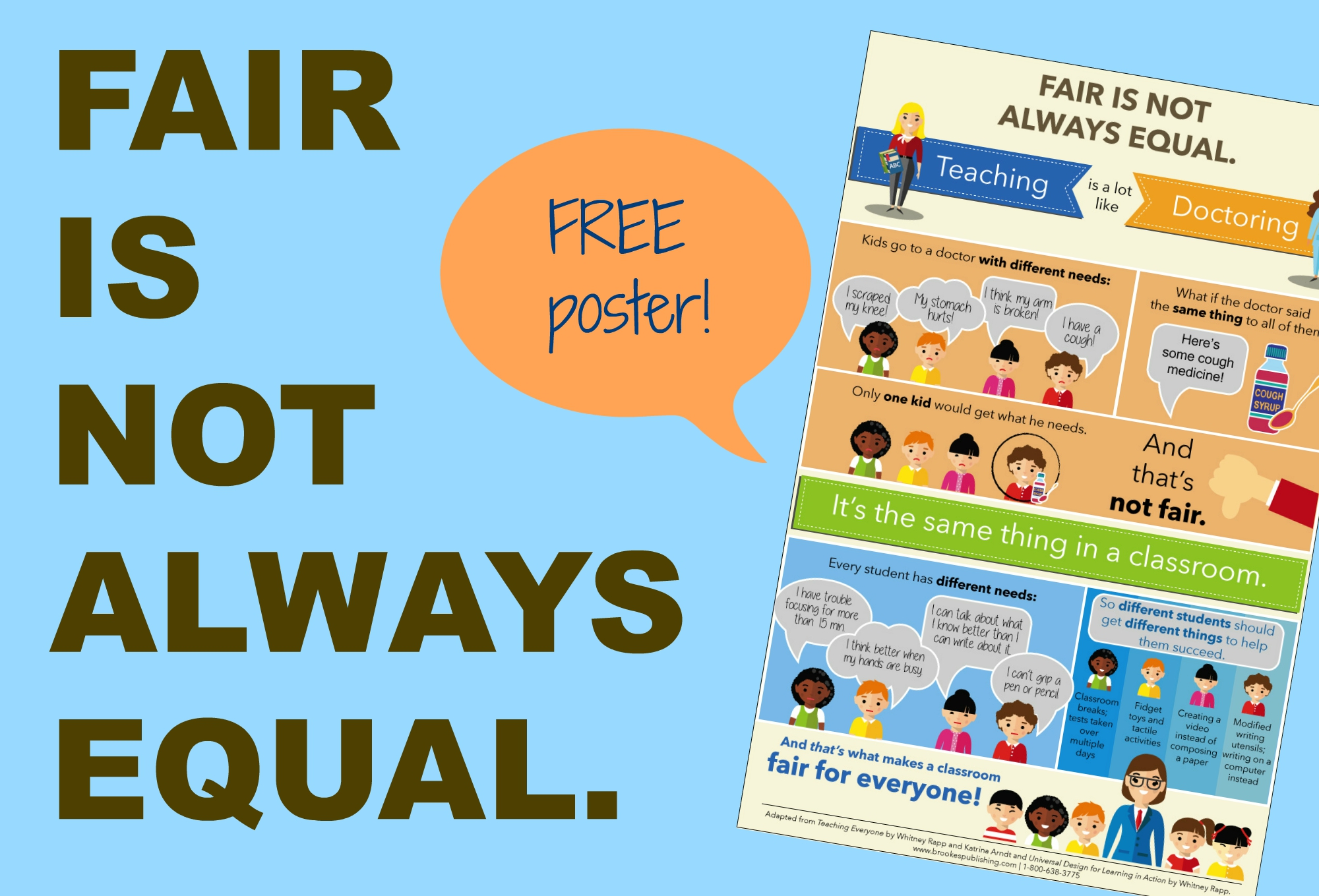 Fair Is Not Always Equal Free Inclusion Poster