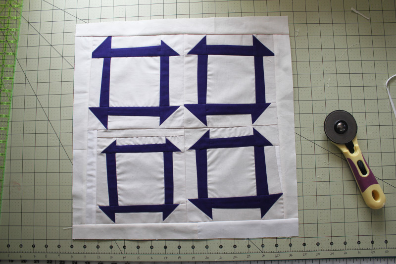 Quilt trimmed and squared