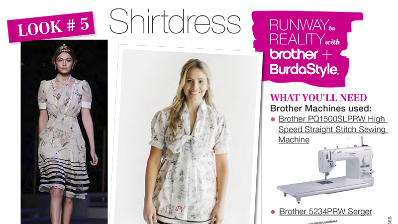 Runway to Reality Look 5 – Shirtdress