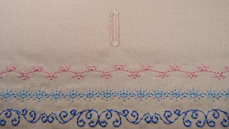 Figure 7 - Buttonhole for Drawstring