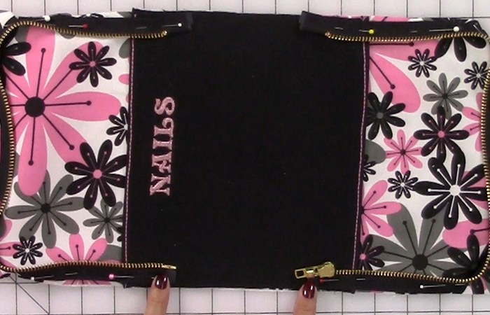 Video Sew-A-Long: Manicure Bag Part 5 – Finishing up