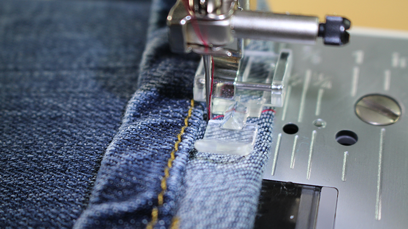 Hemming Jeans While Keeping Original Hem Stitching Sewcial Best Hemming Jeans Sewing Machine