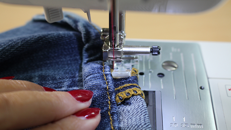 Hemming Jeans While Keeping Original Hem Stitching Sewcial Unique Hemming Jeans Sewing Machine