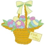 Easter Basket-Li23100804-ibroidery-basket