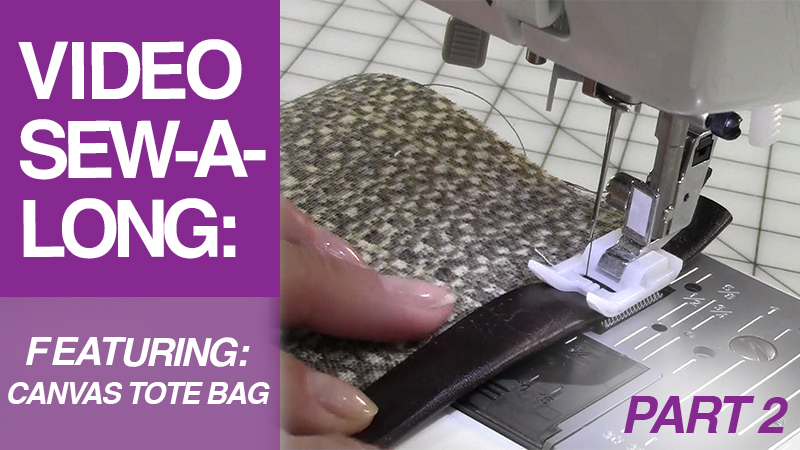 Video Sew-A-Long: Canvas Tote Bag: Part 2: Pocket