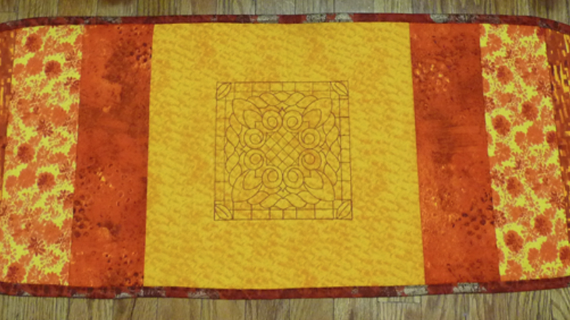 Quilt As You Go! Create a Decorative Table Runner