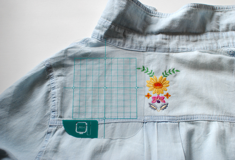 Update an old shirt with embroidery stitching sewcial