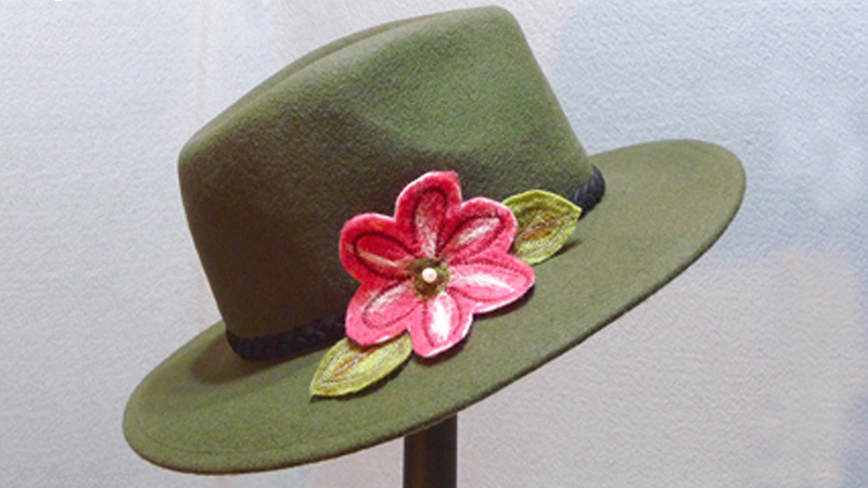 Foot of the Month: Felted Flower for Hat Trim