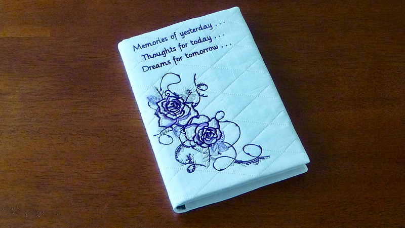 Embroidered Journal Cover