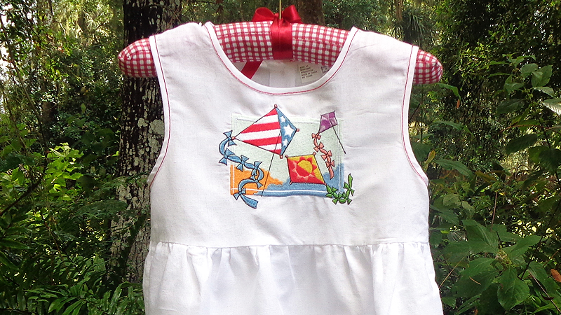 Summertime Fun! Embroidered Picnic Dress