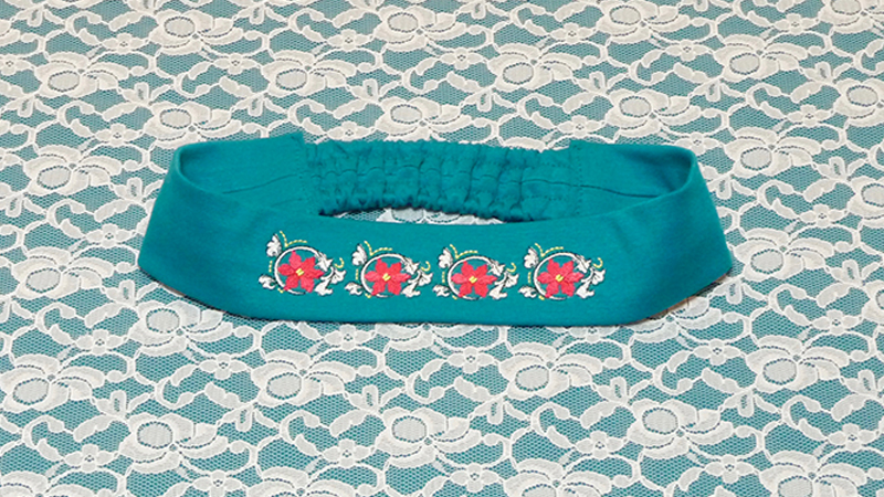 September Free Design: Embroidered Headband