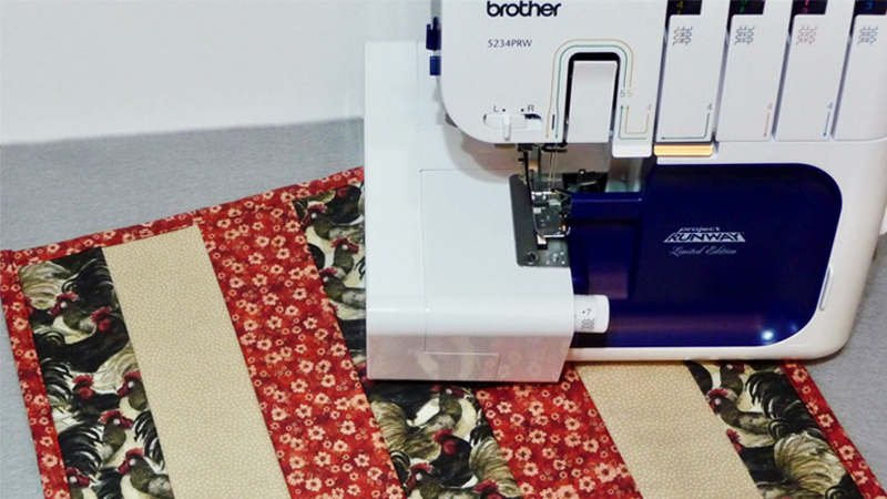 Serger Style Quilt-As-You-Go Placemat