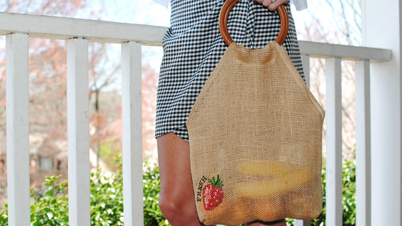 Earth Friendly Burlap Bag