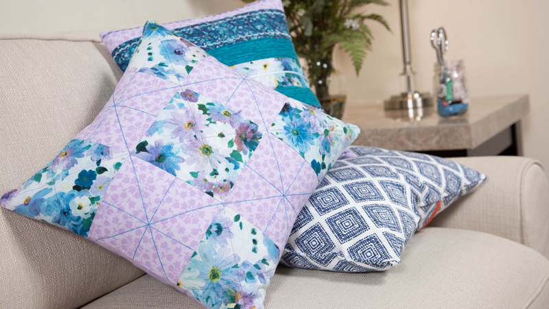 Foot of the Month: Quilted Nine Patch Pillow