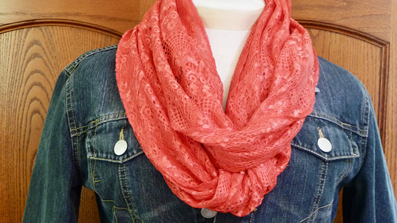 DIY: Serger Style Infinity Scarf