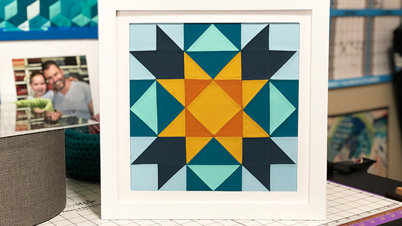 Super Cool National Quilting Month Barn Quilt