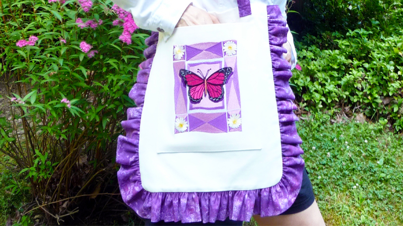 Free Design of the Month: Ruffled Butterfly Tote