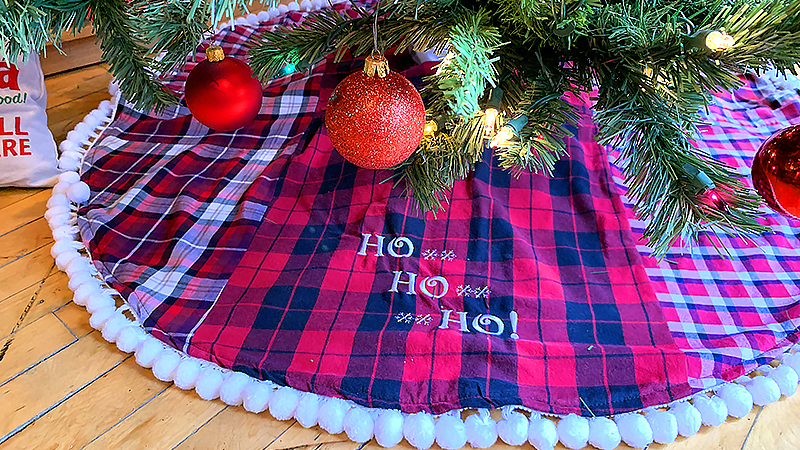 Old Flannel Shirts into a Tree Skirt!