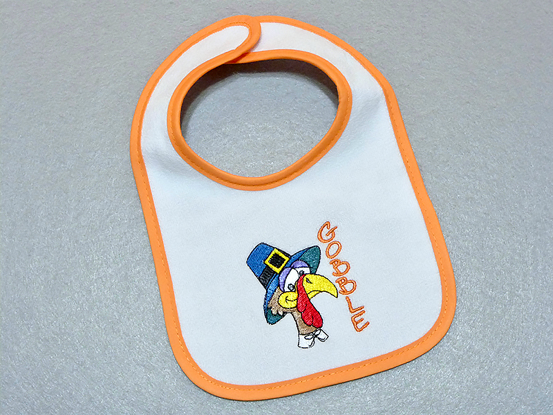 bib on table