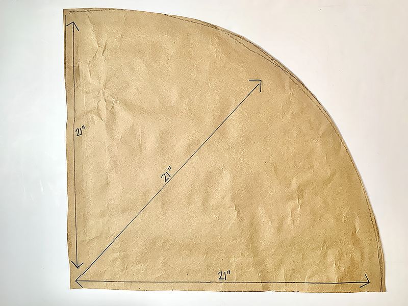 Tree skirt measurements