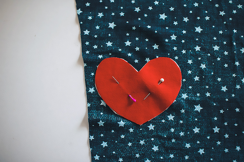 pinned heart patch