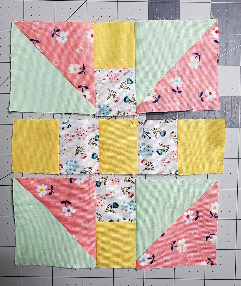 stitch steps 2 and 4 together