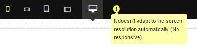 No responsive template warning.