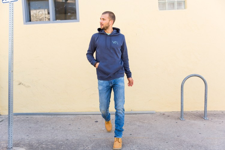 Timberland boots, styled with Outpost Makers denim