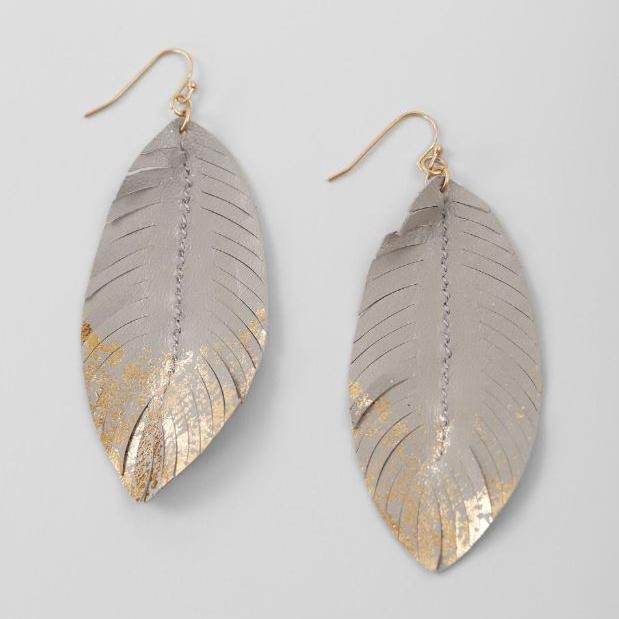 Women's BKE Feather Statement Earrings
