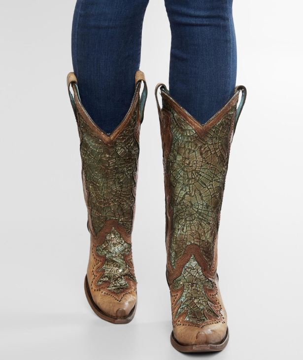 Women's Corral Distressed Leather Western Boot