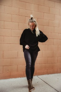 How to style black jeans - Women's Flying Monkey Black Ankle Skinny Jeans, White Crow Black Turtleneck Sweater, Coconuts Cheetah Ankle Boots