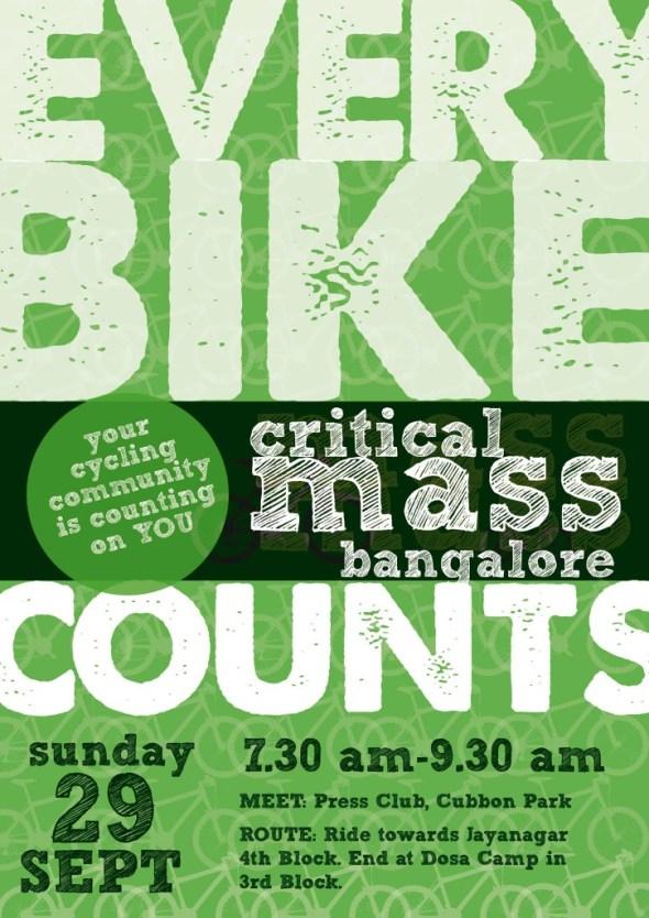 critical mass bangalore, india Sept