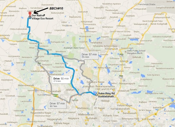 BBCH Dirt 100 MTB Race - route map