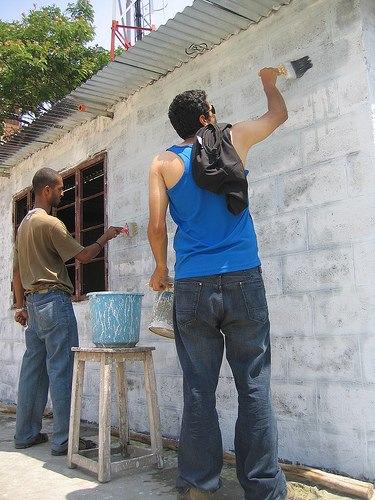 riders painting BOTS - community engagement at BOTS