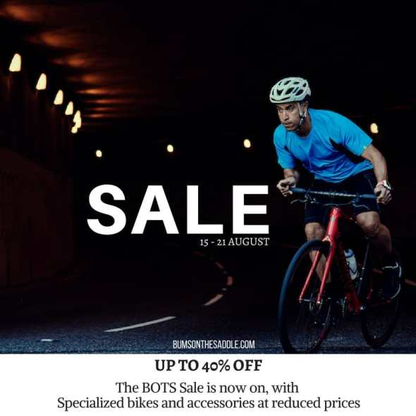 BOTS Specialized Sale - 15-21 August. 40% off on bikes & accessories