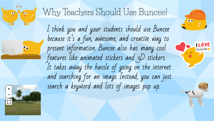Blue Geometric Buncee